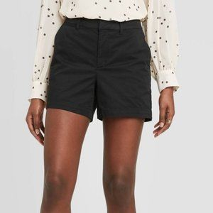 A New Day Mid-Rise Chino Shorts - Black OR Coral
